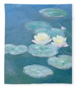 Waterlilies Evening Fleece Blanket