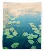 Waterlilies Home Fleece Blanket by Priska Wettstein