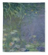 Waterlilies Morning Fleece Blanket