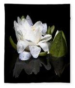 Waterlily  Reflection Fleece Blanket