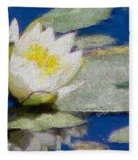 Waterlily Reflections Fleece Blanket