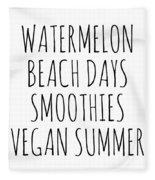 Watermelon, Beach Days Smoothies Fleece Blanket