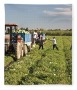 Watermelon Harvest Fleece Blanket