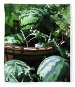 Watermelon In A Vegetable Garden Fleece Blanket