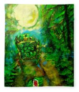 Watermelon Wagon Moon Fleece Blanket