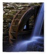 Watermill Wheel Fleece Blanket