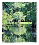 Waterscape #1 Hillsborough River Fleece Blanket