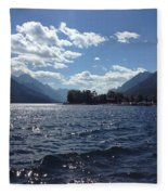 Waterton Lake Fleece Blanket
