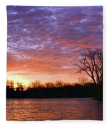 Waterville Sunrise Panorama 0002 0003 Signed Fleece Blanket
