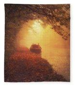 Waterway Sunrise Fleece Blanket