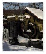 Waterwheel With Snow Fleece Blanket