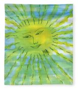 Watery Sunshine Fleece Blanket