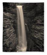 Watkins Glen Cavern Cascade #5 Fleece Blanket
