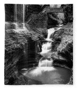 Watkins Glen Rainbow Falls #2 Fleece Blanket