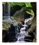 Watkins Glen Rainbow Falls Fleece Blanket