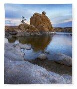 Watson Lake Arizona 14 Fleece Blanket