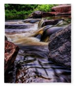Wausau Whitewater Course Side View Fleece Blanket