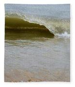 Wave At Sandbridge Virginia Fleece Blanket