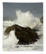Wave At Shore Acres 2 Fleece Blanket