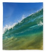 Wave - Makena Beach Fleece Blanket