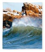 Wave Mirrors Rock Fleece Blanket