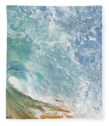 Wave Tube Along Shore Fleece Blanket
