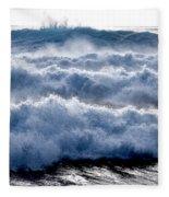Wave Upon Wave Upon Wave Fleece Blanket