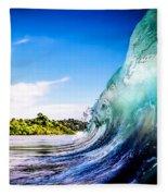 Wave Wall Fleece Blanket