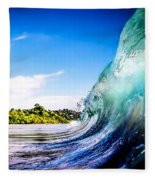 Wave Wall Fleece Blanket