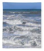 Waves 1 Fleece Blanket