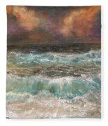 Waves 3  Fleece Blanket