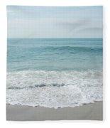 Waves And Assateague Beach Fleece Blanket