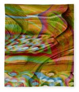 Waves And Patterns Fleece Blanket