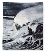 Waves At Night Fleece Blanket