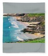 Waves Coming Ashore At Sybil Point Ireland  # 1 Fleece Blanket