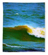 Waves Fleece Blanket
