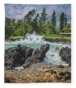 Waves Crashing Kawee Point Fleece Blanket