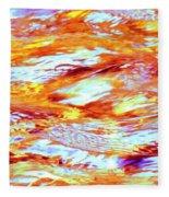 Waves Of Light Fleece Blanket