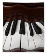Wavey Piano Keys Fleece Blanket
