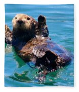 Waving Otter Fleece Blanket