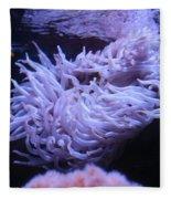 Waving Sea Anemone - Aquarium Fleece Blanket