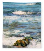 Sea Waves ...  Fleece Blanket
