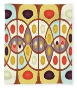 Wavy Geometric Abstract Fleece Blanket