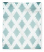 Wavy Light Teal Braids Fleece Blanket