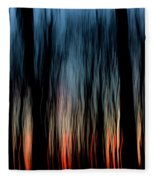 Wavy Sunset Fleece Blanket
