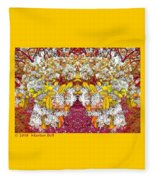 Waxleaf Privet Blooms In Autumn Tones Abstract Fleece Blanket