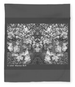 Waxleaf Privet Blooms In Black And White Abstract Poster Fleece Blanket
