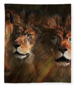 Way Of The Lion Fleece Blanket