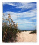 Way Out To The Beach Fleece Blanket