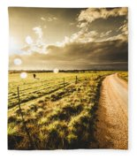 Way To Policemans Point Tasmania Fleece Blanket